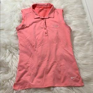 Light Peach sleeveless Nike polo